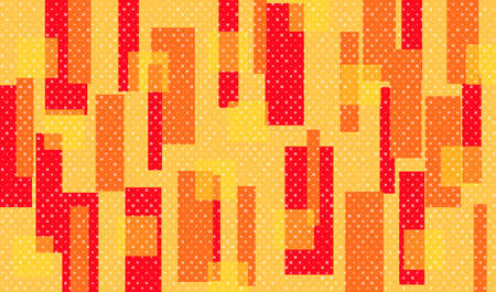 Abstract red and orange geometric background in retro style