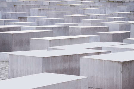 Foundation Memorial to the Murdered Jews of Europe in Berlin, Germany - Partial view Stock Photo