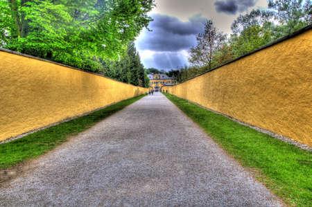 pathway to  popular attraction in salzburg park