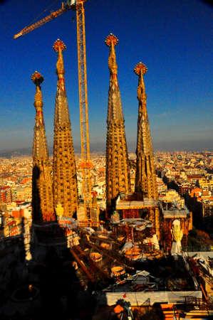 sagrada familia church, barcelona, spain Editorial