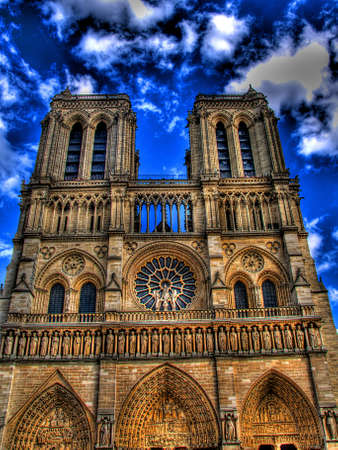 notre dame paris Stock Photo