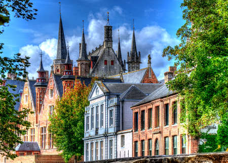 buildings in bruges, belgium