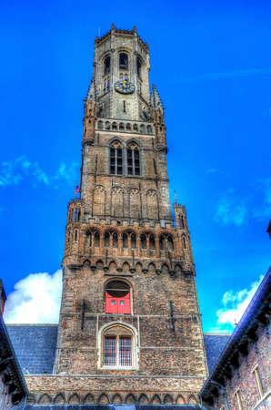 belfry: belfry tower bruges, belgium