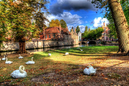 beguinage in bruges, belgium Stock Photo