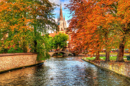 canal in bruges, belgium Stock Photo - 5727776