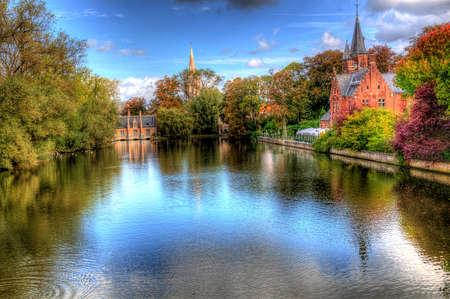 belgie: kanaal in Brugge, België