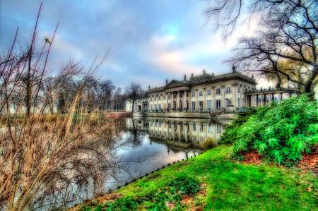 lazienki palace warsaw poland Stock Photo