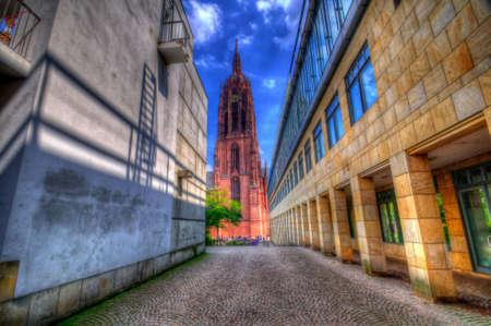 Saint Bartholomeus Cathedral in frankfurt, germany Stock Photo