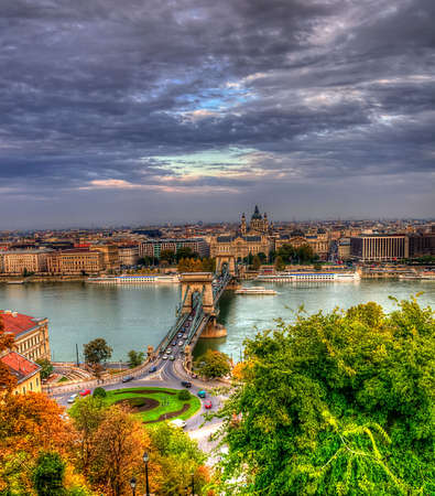 budapest aerial view Stock Photo
