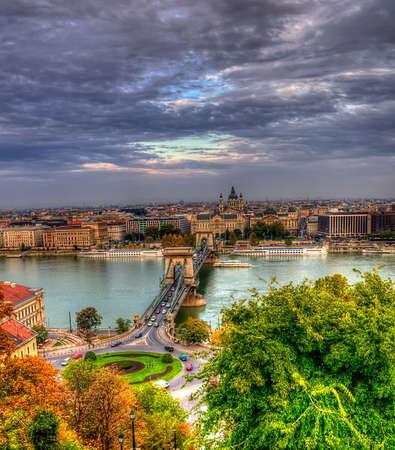 hdr: vue a�rienne de Budapest