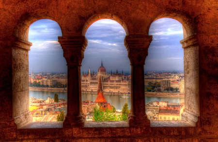 budapest parliament building Stock Photo
