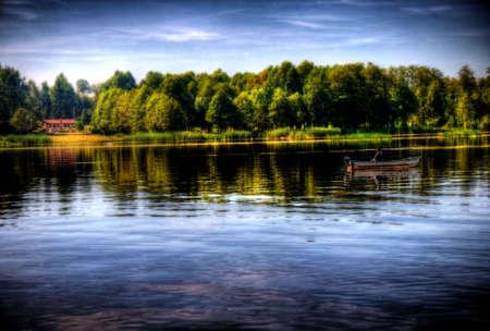 lake in serock, warsaw, poland Stock Photo