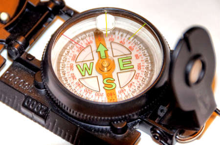 compass on white background can symbolize strategy or direction