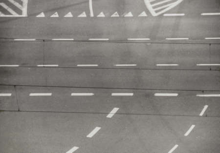 top view of road intersection