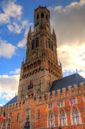 belfry in bruges, belgium photo