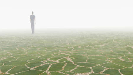 man in a fog at night Stock Photo - 11579438