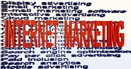 internet marketing terminologies Stock Photo