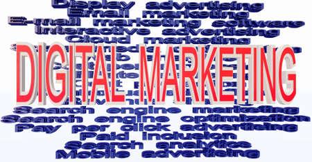 digital marketing terminologies Stock Photo - 11771967