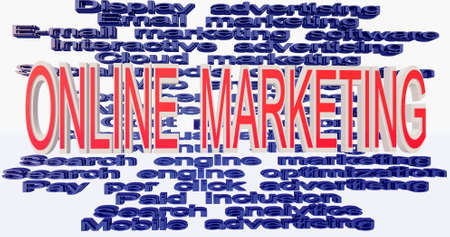 contextual: terminolog�a de marketing online Foto de archivo