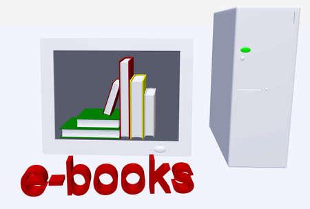 e reader: ebooks illustration