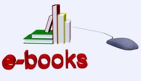 ebook reader: ebooks illustration