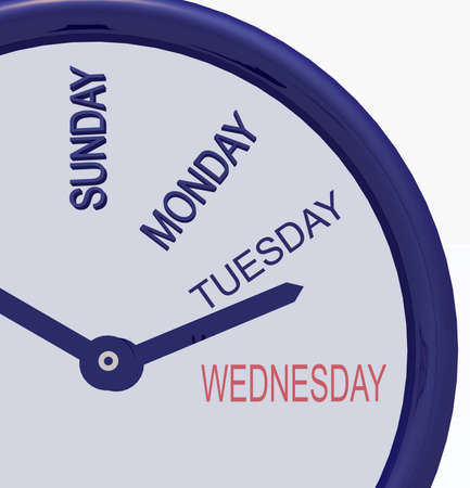 clock with days of week