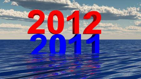 2012 3d Stock Photo - 11928095
