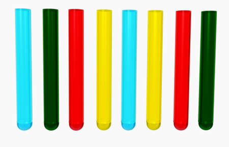 test pattern: colorful test tubes 3d Stock Photo