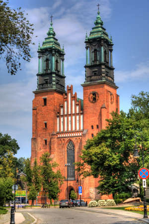 sparingly: Cathedral in Poznan, Poland