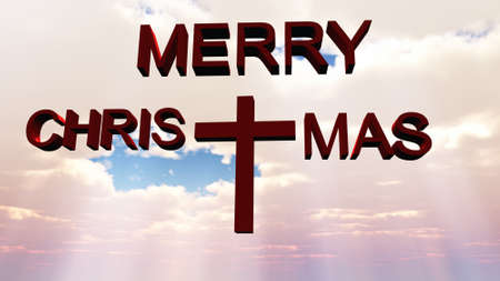 merry christmas cross Stock Photo