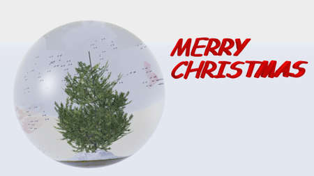 Merry Christmas Snow Ball photo