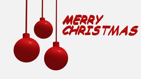 Merry Christmas Balls Decoration Stock Photo - 16692446