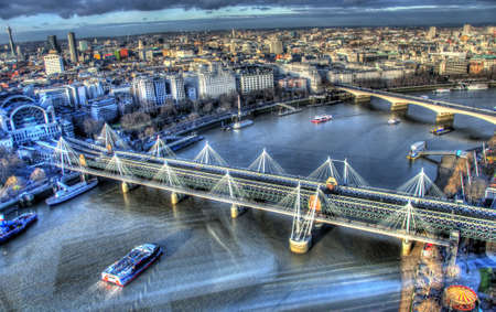thames: View from London Eye Stock Photo