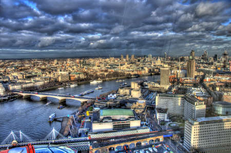 View from London Eye Stock Photo