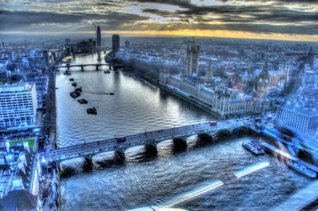london eye: View from London Eye Stock Photo
