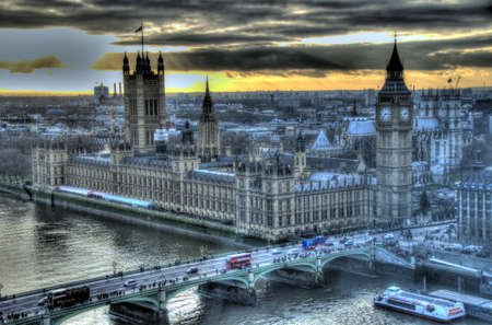 View from London Eye featuring Big Ben