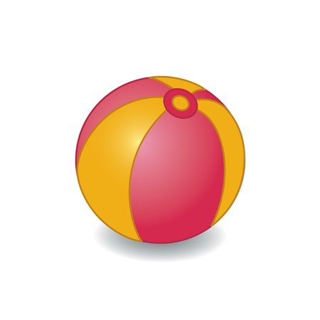 Colorful ball illustration. Isolated on white. Vector