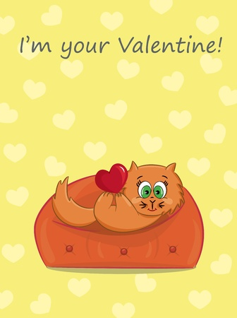 The card for Valentine Day, the background Vector