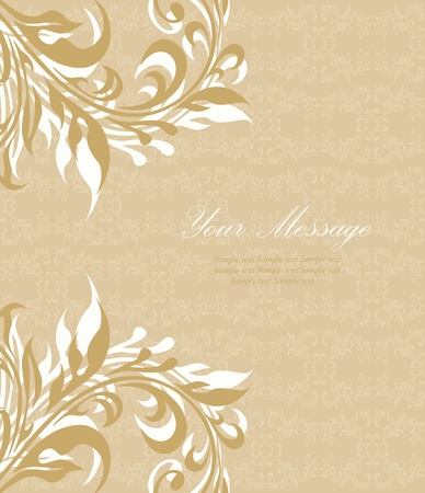 Vintage styled card with floral background Stock Vector - 13098435