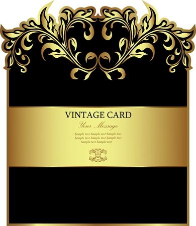 nobile: Di lusso nero con cornice in oro bianco-label
