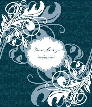 Floral card Stock Vector - 13165632