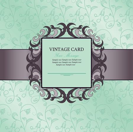 Invitación de la vendimia de tarjeta
