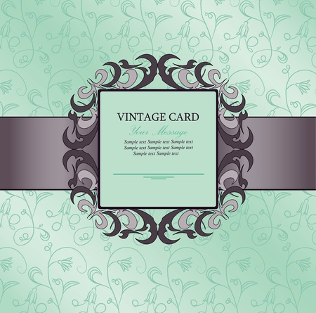 Invitation vintage card Stock Vector - 13230307