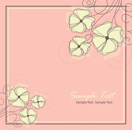 Floral background  Vector illustration Vector