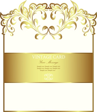 White gold-framed label Vector