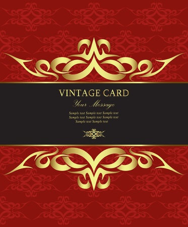 Luxury vintage card Vector