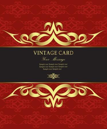 curl: Luxury vintage card Illustration