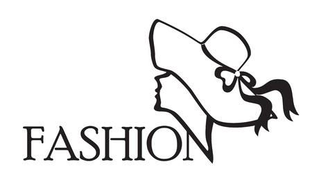 Fashion.Icon.Black en blanco ilustración background.Vector