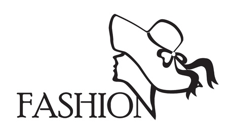 glam: Fashion Icon Black on white background Vector illustration