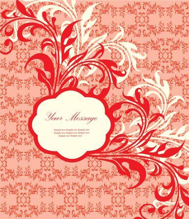 Floral invitation card Stock Vector - 13282285